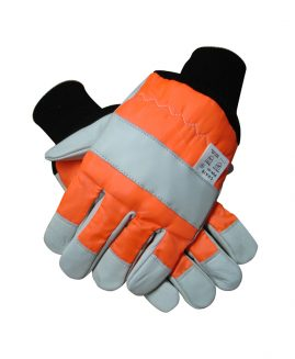 Chainsaw Safety Gloves, Class 0, Both Hands Protected - L