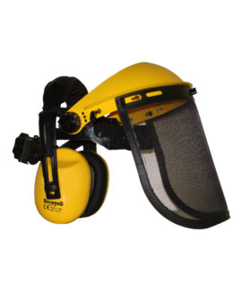 Face Shield with Ear Muffs & Mesh Visor