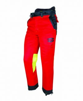 Solidur AUTHENTIC Chainsaw Trousers Red