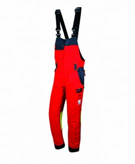 Solidur AUTHENTIC Chainsaw Bib and brace Red