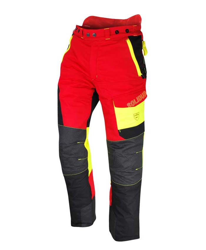 Solidur COMFY Class 3 Chainsaw Trousers Red
