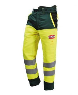 Solidur GLOW High Visibility Yellow Chainsaw Trousers Type A