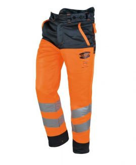 Solidur GLOW High Visibility Orange Chainsaw Trousers Type C