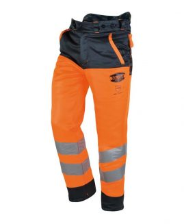 Solidur GLOW High Visibility Orange Chainsaw Trousers