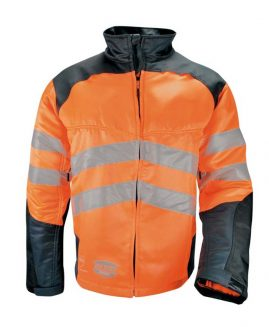Solidur GLOW High Visibilty Orange Chainsaw Jacket
